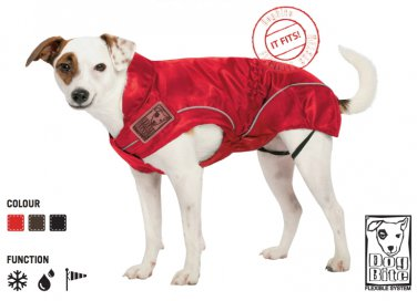 """On Sale: (S) Dog Rain Jacket / All-Year Jacket,  12"""", Red Water Resistant"""