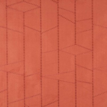 persimmon Suede Upholstery Fabric By The Yard   Embroidered Stitched   Pattern #: B135