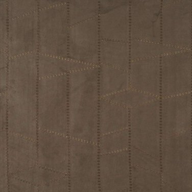 Dark Green Suede Upholstery Fabric By The Yard | Embroidered Stitched | Pattern #: B138