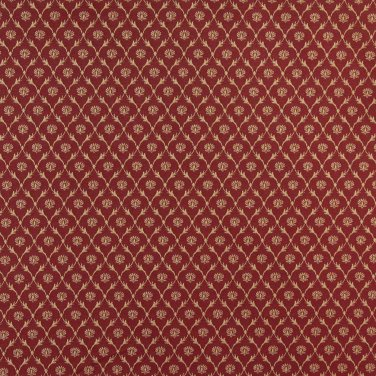 """B643 Red, Floral Trellis Jacquard Woven Upholstery Fabric By The Yard 