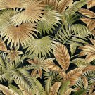 "54"""" E351 Black, Brown And Green, Floral Leaf Outdoor Indoor Marine Fabric By The Yard"