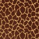 "54"""" E404 Brown, Giraffe, Animal Print Microfiber Upholstery Fabric By The Yard"
