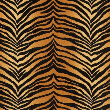 """54"""""""" E408 Gold And Black, Tiger, Animal Print Microfiber Upholstery Fabric By The Yard"""