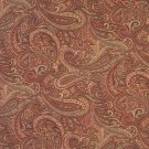 """54"""""""" Wide F326 Orange, Red And Gold, Paisley Contemporary Upholstery Grade Fabric By The Yard"""