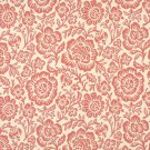 """F403 Coral Pink And Beige Floral Matelasse Reversible Upholstery Fabric By The Yard 