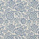 F404 Blue And Beige Floral Matelasse Reversible Upholstery Fabric By The Yard | Width: 54""""
