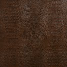 "54"""" G033 Brown, Crocodile Faux Leather Vinyl By The Yard"