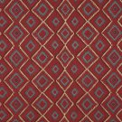 J748 Southwest Style Diamond Upholstery Fabric | Blue Red Beige Green Upholstery Fabric By The Yard