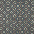 J749 Southwest Style Diamond Upholstery Fabric | Blue Salmon Beige Upholstery Fabric By The Yard
