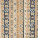 J758 Southwest Large Stripe Upholstery Fabric Blue Salmon Beige Upholstery Fabric By The Yard
