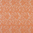 "54"""" Wide F603 Orange, Floral Leaf Outdoor, Indoor, Marine Scotchgarded Fabric By The Yard"