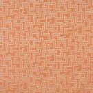 "54"""" Wide F635 Orange, Geometric Outdoor, Indoor, Marine Scotchgarded Fabric By The Yard"