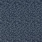 "54"""" Wide E204 Navy And Blue Floral Leaf Residential And Contract Grade Upholstery Fabric By The Yar"