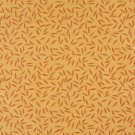 """54"""""""" Wide E205 Orange Gold Floral Leaf Residential Contract Grade Upholstery Fabric By The Yard"""
