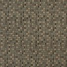 E262 Brown Small Scale Geometric Boxes Residential Contract Grade Upholstery Fabric By The Yard