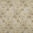 """54"""""""" Wide E391 Gold, White, Red And Green, Paisley Floral Brocade Upholstery Fabric By The Yard"""