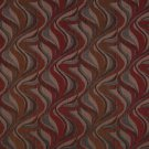 """54"""""""" Wide F191 Red, Brown And Grey, Abstract Flame Chenille Upholstery Fabric By The Yard"""