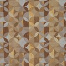 "54"""" Wide F515 Gold, Brown And Blue, Geometric Chenille Upholstery Fabric By The Yard"