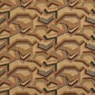 """54"""""""" Wide F853 Green, Red, Blue And Bronze, Geometric Chenille Upholstery Fabric By The Yard"""