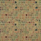 "54"""" Wide F856 Green, Orange, Blue And Burgundy, Geometric Chenille Upholstery Fabric By The Yard"