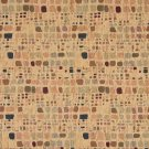 """54"""""""" Wide F860 Blue, Green And Burgundy, Geometric Chenille Upholstery Fabric By The Yard"""