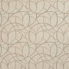 "54"""" Wide F871 Orange, Green And Ivory, Geometric Chenille Upholstery Fabric By The Yard"