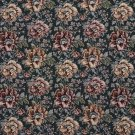 """54"""""""" Wide F655 Green And Red, Floral Tapestry Upholstery Fabric By The Yard"""