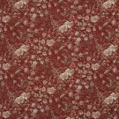 """54"""""""" Wide H140 Red, Green And Peach, Garden Floral Tapestry Upholstery Fabric By The Yard"""