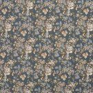 "54"""" Wide H864 Blue, Ivory And Green, Floral Bouquet Tapestry Upholstery Fabric By The Yard"