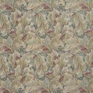 "54"""" Wide D569 Burgundy And Green, Floral Leaf Tapestry Upholstery Fabric By The Yard"