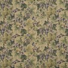 "54"""" Wide H850 Green And Purple, Floral Leaf Tapestry Upholstery Fabric By The Yard"