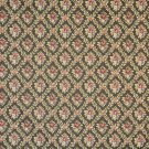 "54"""" Wide F921 Green, Red And Dark Blue, Floral Diamond Tapestry Upholstery Fabric By The Yard"