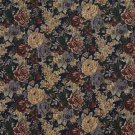 """54"""""""" Wide F923 Blue, Green And Red, Floral Bouquet Tapestry Upholstery Fabric By The Yard"""