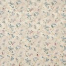 "54"""" Wide F818 Blue Green Red Pastel Butterflies Flowers Jacquard Woven Upholstery Fabric By The Yar"