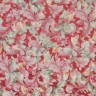 "54"""" Wide F822 Red, Green, White And Gold, Floral Leaves Jacquard Woven Upholstery Fabric By The Yar"