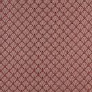 """54"""""""" Wide D312, Burgundy And Beige Fan Jacquard Woven Upholstery Fabric By The Yard"""