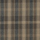 "54"""" Wide C641 Brown, Dark Blue And Beige, Large Plaid Country Style Upholstery Fabric By The Yard"