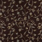 "54"""" Wide K0011F Brown Light Blue Gold Ivory Embroidered Floral Brocade Upholstery Fabric By The Yar"