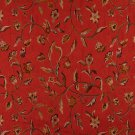 "54"""" Wide K0011G Red Brown Gold Ivory Embroidered Floral Brocade Upholstery Fabric By The Yard"