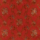 K0014G Red Brown Gold Ivory Large Scale Embroidered Floral Brocade Upholstery Fabric By The Yard