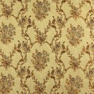 K0014H Gold Brown Ivory Large Scale Embroidered Floral Brocade Upholstery Fabric By The Yard