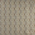 K0015A Light Blue Gold Brown Ivory Embroidered Pointed Oval Brocade Upholstery Fabric By The Yard