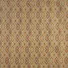K0015E Beige Gold Brown Ivory Embroidered Pointed Oval Brocade Upholstery Fabric By The Yard