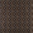 K0015F Brown Light Blue Gold Ivory Embroidered Pointed Oval Brocade Upholstery Fabric By The Yard