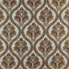 K0016A Light Blue Gold Brown Ivory Embroidered Traditional Brocade Upholstery Fabric By The Yard