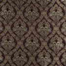 K0016F Brown Light Blue Gold Ivory Embroidered Traditional Brocade Upholstery Fabric By The Yard