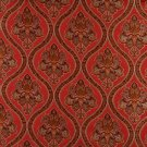 """54"""""""" Wide K0016G Red Brown Gold Ivory Embroidered Traditional Brocade Upholstery Fabric By The Yard"""