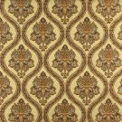"54"""" Wide K0016H Gold Brown Ivory Embroidered Traditional Brocade Upholstery Fabric By The Yard"