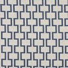 "54"""" Wide K0002E Blue and Off White, Modern, Geometric Designer Quality Upholstery Fabric By The Yar"