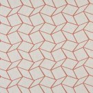 """54"""""""" Wide K0007C Persimmon Off White Geometric Boxes Designer Quality Upholstery Fabric By The Yard"""